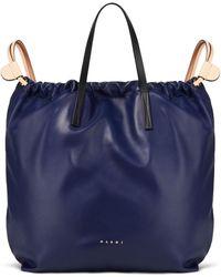 Marni Leather Backpack - Blue