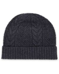 N.Peal Cashmere Cable-knit Cashmere Beanie - Grey