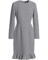 House of Holland - Woman Fluted Cotton-blend Jacquard Dress Gray - Lyst
