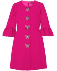 Andrew Gn Embellished Cady Mini Dress - Pink