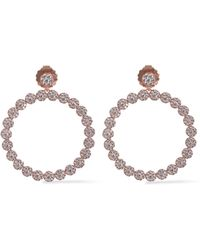 CZ by Kenneth Jay Lane - Rose Gold-tone Crystal Hoop Earrings - Lyst