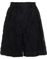 MSGM Shorts aus schnurgebundener spitze mit falten - Schwarz