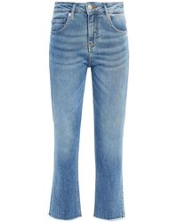 Maje Faded High-rise Slim-leg Jeans - Blue