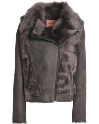 Yves Salomon - Panelled Shearling Jacket - Lyst