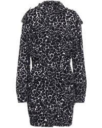 Norma Kamali Printed Stretch-jersey Hooded Jacket - Black