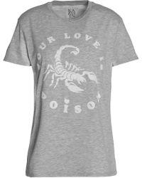 Zoe Karssen - Flocked Mélange Cotton-blend Jersey T-shirt - Lyst