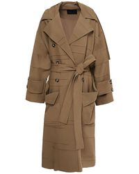Proenza Schouler Belted Twill Trench Coat - Multicolour