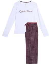 CALVIN KLEIN 205W39NYC - Two-tone Printed Cotton Pyjama Set - Lyst