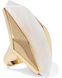 Noir Jewelry - Light Beam 14-karat Gold-plated Resin Ring - Lyst