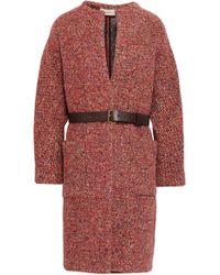Ba&sh Woman January Wool-blend Tweed Coat Red