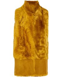 Karl Donoghue | Faux Fur And Suede Gilet | Lyst