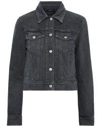 J Brand Harlow Cropped Denim Jacket Anthracite - Multicolour