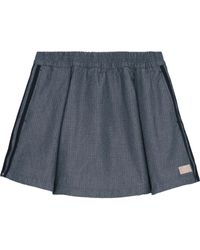 adidas Originals - Perforated Chambray Mini Skirt - Lyst