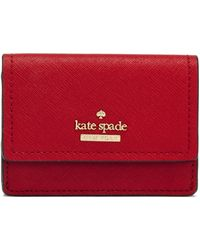 Kate Spade Textured-leather Wallet Claret