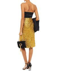 Dundas Metallic Brocade Skirt