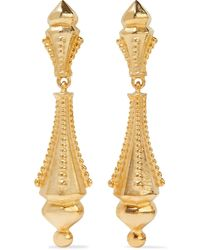Ben-Amun 24-karat -plated Clip Earrings - Metallic
