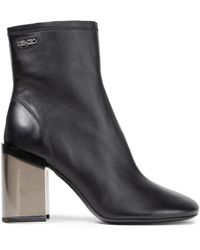 KENZO Leather Ankle Boots Black
