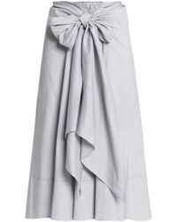 TOME Tie-front Cotton Skirt White