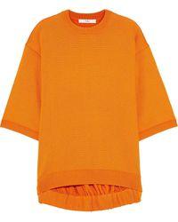 Tibi Stretch-knit Top Orange