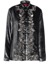 F.R.S For Restless Sleepers Embellished Embroidered Metallic Velvet Top
