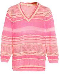 Delpozo - Cotton-blend Crochet-knit Top - Lyst