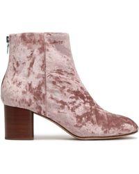 Rag & Bone Drea Crushed-velvet Ankle Boots Baby Pink