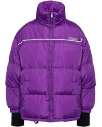 Prada Quilted Shell Hooded Down Coat Violet - Purple