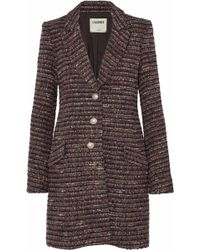 L'Agence - Woman Bouvier Classic Tweed Coat Multicolor - Lyst