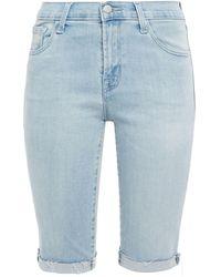 J Brand 811 Frayed Denim Shorts Light Denim - Blue