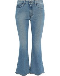 M.i.h Jeans Marty Frayed Low-rise Kick-flare Jeans Mid Denim - Blue