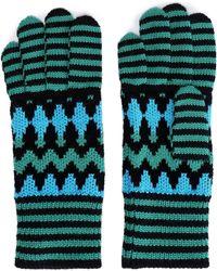 Missoni - Woman Wool-blend Jacquard Gloves Midnight Blue Size M - Lyst