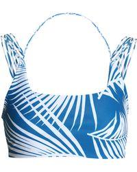 Mikoh Swimwear - Two-tone Printed Stretch-knit Bikini Top - Lyst