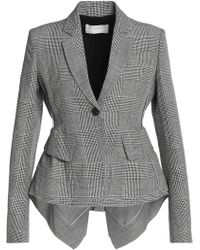 Antonio Berardi - Checked Wool, Linen And Silk-blend Blazer - Lyst