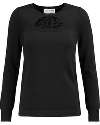 OSMAN - Cutout Merino Wool Sweater - Lyst