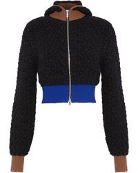3.1 Phillip Lim - Cropped Color-block Wool-blend Bouclé Hooded Jacket - Lyst