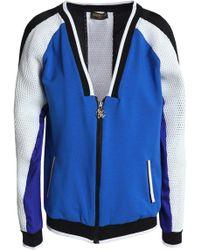 Roberto Cavalli - Mesh-paneled Jersey Sweatshirt - Lyst