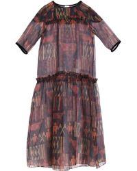 Stella Jean - Ruffle-trimmed Printed Silk-organza Maxi Dress - Lyst