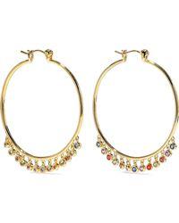 Noir Jewelry - San Felipe 14-karat Gold-plated Crystal Hoop Earrings - Lyst