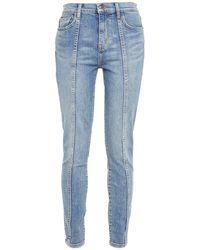 Current/Elliott The Seamed High Waist Ankle Skinny High-rise Skinny Jeans Mid Denim - Blue