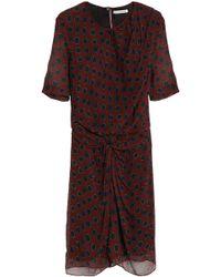 Étoile Isabel Marant - Knotted Polka-dot Silk-georgette Mini Dress - Lyst