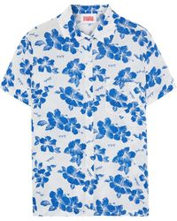Solid & Striped The Cabana Floral-print Voile Shirt - White