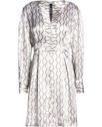 Isabel Marant - Pleated Printed Silk-jacquard Mini Dress - Lyst