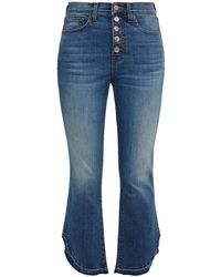 Veronica Beard Carolyn Faded High-rise Bootcut Jeans Mid Denim - Blue