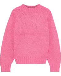 Rebecca Minkoff - Lilian Knitted Sweater Bright Pink - Lyst