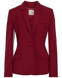 ROKSANDA Loa Two-tone Twill Blazer Claret - Red