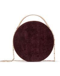 Eddie Borgo - Chet Leather-trimmed Brushed-twill Shoulder Bag - Lyst