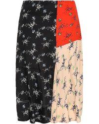 By Malene Birger Panelled Crepe De Chine Skirt - Black