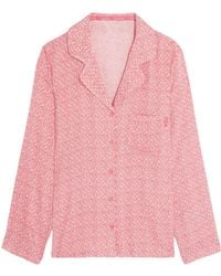 Calvin Klein - Printed Voile Pajama Top - Lyst