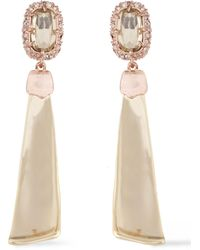 Alexis Bittar - Rose And Gold-tone Swarovski Crystal Earrings Rose Gold - Lyst