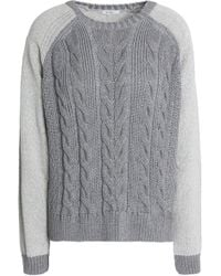 House of Dagmar - Cotton-blend Cable-knit Sweater - Lyst